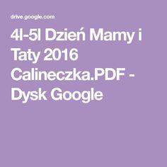 4l-5l Dzień Mamy i Taty 2016 Calineczka.PDF - Dysk Google Google