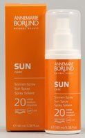 Anne Marie Borlind Sun Care Sun Spray 20 Medium -- 3.38 fl oz by Anne Marie Borlind. $20.99. Anne Marie Borlind. Sun Spray SPF 20 offers medium levels of protection from the sun and natural care all in one. Sun Spray SPF 20 offers medium levels of protection from the sun and natural care all in one. An optimum UVA/UVB filter offers basic protection from damaging UV rays. The sun moisturizing complex with Panthenol moisturizes intensively. The spray's textrue is refreshingly li...
