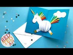 3D Unicorn Card DIY - Red Ted Art's Blog