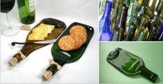 Comment faire d'une bouteille en verre une originale planche pour l'apéritif - Améliore ta Santé