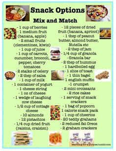 mix and match snacks