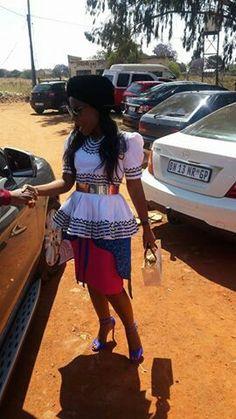 Pedi Traditional Attire, Sepedi Traditional Dresses, African Traditional Wedding Dress, African Wedding Dress, African Print Dress Designs, African Print Fashion, African Fashion Dresses, African Prints, African Wear