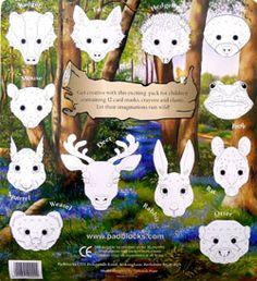 woodland creature masks - Google Search