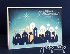 Stampin 'Up! Nuit à Bethlehem Bundle - Judy May, Just Judy Designs Christmas Cards 2017, Create Christmas Cards, Homemade Christmas Cards, Stampin Up Christmas, Xmas Cards, Christmas Themes, Homemade Cards, Christmas Wishes, Holiday Cards