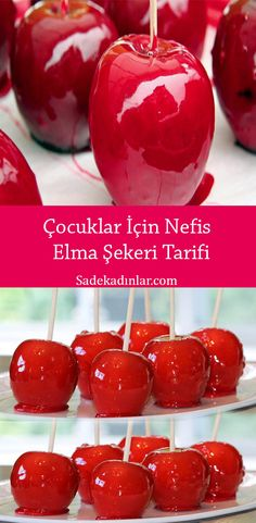 Candy Apples, Apple Candy, Food Court, Feta, Beverages, Cherry, Good Food, Food And Drink, Sweets