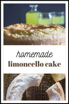 This Cake can be made with either store bought or Homemade Limoncello.I had some of my Homemade Limoncello in the fridge so I just used that, and to tell the truth this cake is not at all overpowering, just a nice subtle Lemony taste.
