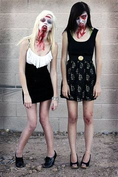 zombie makeup & costume @Taylor Felgenhauer we have to be pretty zombies like them!