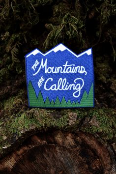 Mountain Patch  Iron-on Adventure Patch by SetterPress on Etsy