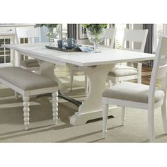 Beachcrest Home Harbor View Trestle Dining Table & Reviews | Wayfair