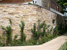 revestimento-de-parede-externa-pedra House Cladding, Decorative Rocks, Outdoors:__cat__, Stone Cladding, Gates, Walls, Cement, Tiles, Interior Design