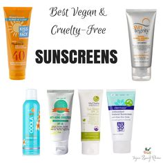 Best #vegan & #crueltyfree sunscreens