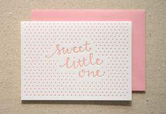 Little+One+Girl+Letterpress+Card+by+ParrottDesignStudio+on+Etsy,+$4.50