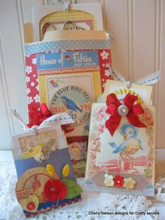 Cherry's Jubilee...would make a great Mother's Day gifts...so cute!