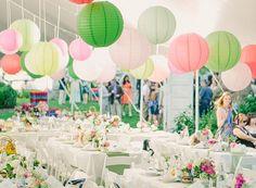 Easy anf funny paper lanterns for an outdoor wedding reception Spring Wedding, Garden Wedding, Our Wedding, Dream Wedding, Party Garden, Spring Party, Party Wedding, Trendy Wedding, Daytime Wedding