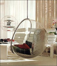 I do love a good bubble chair! Perfect for child's room