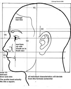 how to divide proportions of the face for sculpting - Google Search