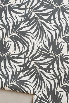 this is for you, Jerra! interesting print for the wall by the kitchen - Frond Silhouette Wallpaper #anthropologie