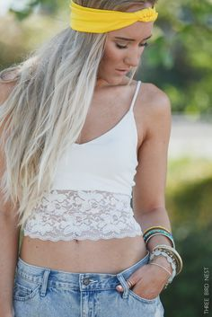 Cropped Lace Hem Camisole