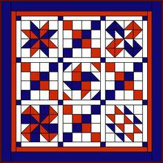 Treasure trove of traditional and original quilt blocks