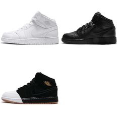 outlet store 30d94 fe289 Nike Air Jordan 1 Mid GG BG Kids Youth Women Shoes Sneakers AJ1 Pick 1