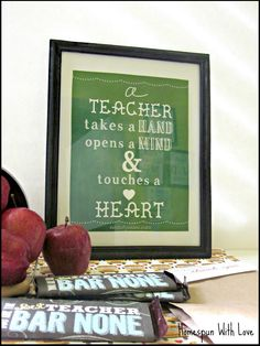 Teacher Appreciation Gift 2013
