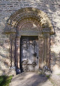 Kilpeck Church South door by PogiPete, via Flickr
