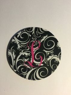 custom initial coaster set of 4 by CBreezeDesign on Etsy