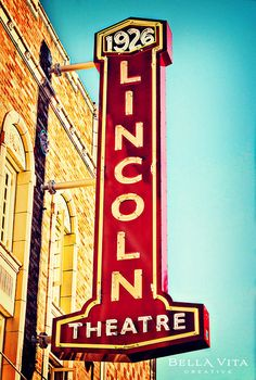 New sign for the historic Lincoln Theater, Mount Vernon, WA