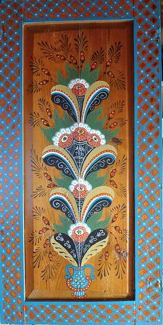 Swedish Folk Art. Kurbits flower by Trappsteg, via Flickr