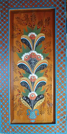 Swedish Folk Art. Kurbits flower by Trappsteg, via Flickr