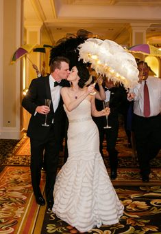 In the New Orleans spirit at their reception at @The Roosevelt New Orleans, A Waldorf Astoria Hotel