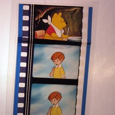 Winnie the Pooh Bookmark - Recycled Film | CultureRevolution - Paper/Books on ArtFire