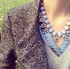 tweed | diamonds | denim | camel- love