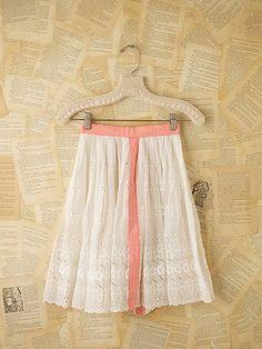 Vintage Victorian Eyelet Skirt