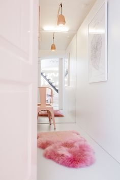 Germany's Social Media Darling Lena Terlutter   BB Loves - I need this pink rug provided it's fake fur...