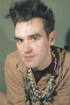 Morrissey (c.1986) ― photo by Joe Shutter.