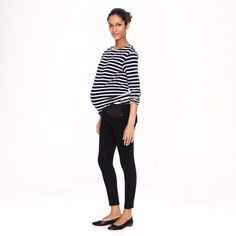 Maternity toothpick jean in pitch black wash