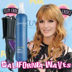 Bella Thorne looked California cool in her palm tree patterned outfit and big waves at the Teen Choice Awards yesterday. To get the look: first, protect your locks with Quantum MicroV Heat Shield, then use the Hot Tools Deep Waver starting just above the ear to create beautiful bouncy waves.