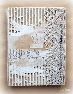 Journal cover - exposed corrugated cardboard - by Ankan at Craftlandia