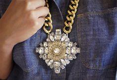 DIY: Crystal Pendant Necklace   Lovelyish