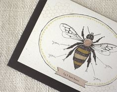 Valentine Card  Bee's Knees by witandwhistle on Etsy