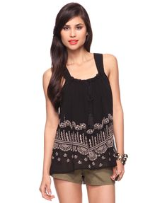 Embroidered Chiffon Tank | FOREVER21 - 2000014012