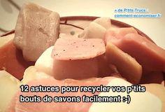 Vous aussi vous avez des p'tits bouts de savons qui vous restent sur les bras? Voici 12 astuces pour recycler ces restes de savons et leur donner une seconde vie. Regardez :-)  Découvrez l'astuce ici : http://www.comment-economiser.fr/12-astuces-pour-recycler-facilement-vos-petits-bouts-savons.html?utm_content=buffereccee&utm_medium=social&utm_source=pinterest.com&utm_campaign=buffer