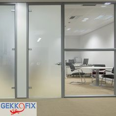 Create privacy with window foil, sand. Available in self adhesive & vitrostatic. Get inspired & get creative! #DIY #Gekkofix