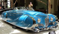 1949 Delahaye 175 Saoutchik Roadster – My Favorite Cool Old Cars, Fancy Cars, Classy Cars, Sexy Cars, Austin Martin, Art Deco Car, Roadster, Old Classic Cars, Weird Cars