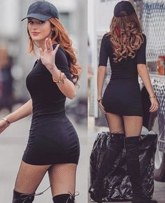 bella thorne outfits 50 best outfits - Page 2 of 101 - Celebrity Style and Fashion Trends Black Dress Outfits, Sexy Outfits, Sexy Dresses, Cool Outfits, Fashion Outfits, Womens Fashion, Fall Dresses, Fashion Trends, Bella Throne