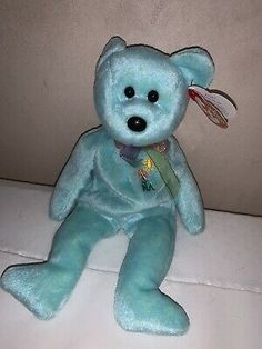 "Rare VINTAGE 2000 BEANIE BABY, ""ARIEL"" THE BEAR - IN MEMORY 1981-1988  | eBay"