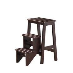 "Boraam Industries Folding Step Stool - Cappuccino (24"")"