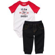 Carters Baby Set, Baby Boys Baseball Bodysuit and Denim Pants - Macy's Carters Clothing, Clothing Sets, Baby Boy Outfits, Kids Outfits, Baby Boy Baseball, Pull On Jeans, Carters Baby Boys, 2 Piece Outfits, Baby Boy Fashion