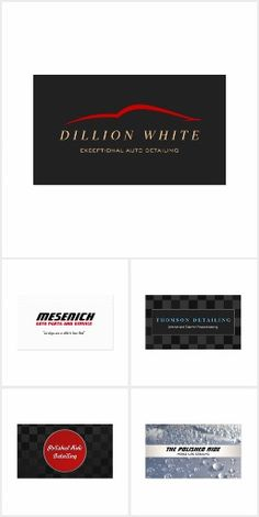 Automotive business cards business cards and business curated collection of auto automotive business cards great for car detailers mechanics reheart Choice Image